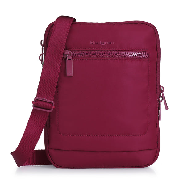 HEDGREN INTER CITY TREK CROSSBODY BAG CABERNET