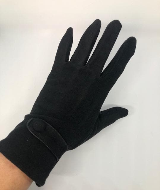 BUTTON TAB GLOVES TOUCH SCREEN BLACK