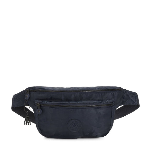 KIPLING K.ORIGIN YASEMINA XLARGE BUM BAG SATIN CAMO BLUE