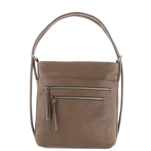 GABEE DORA LEATHER CONVERTIBLE BACKPACK TAUPE