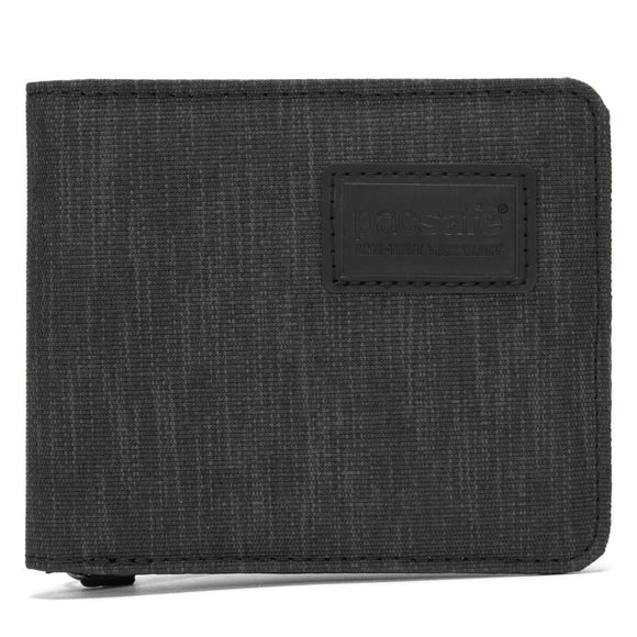 PACSAFE RFIDSAFE RFID BLOCKING BI-FOLD WALLET CARBON