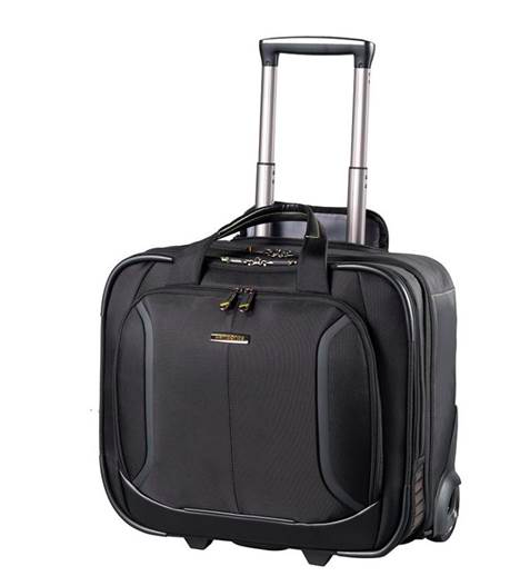 SAMSONITE VIZ AIR PLUS ROLLING TOTE BLACK
