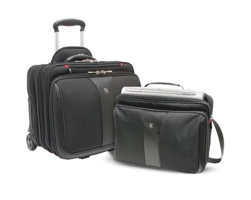 WENGER PATRIOT 2 PIECE WHEELED BUSINESS SET BLACK