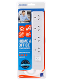 JACKSON 4 WAY POWER BOARD HOME AND OFFICE POWERPOINT WITH SURGE