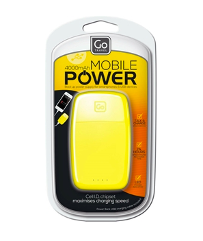 GO TRAVEL MOBILE POWER YELLOW