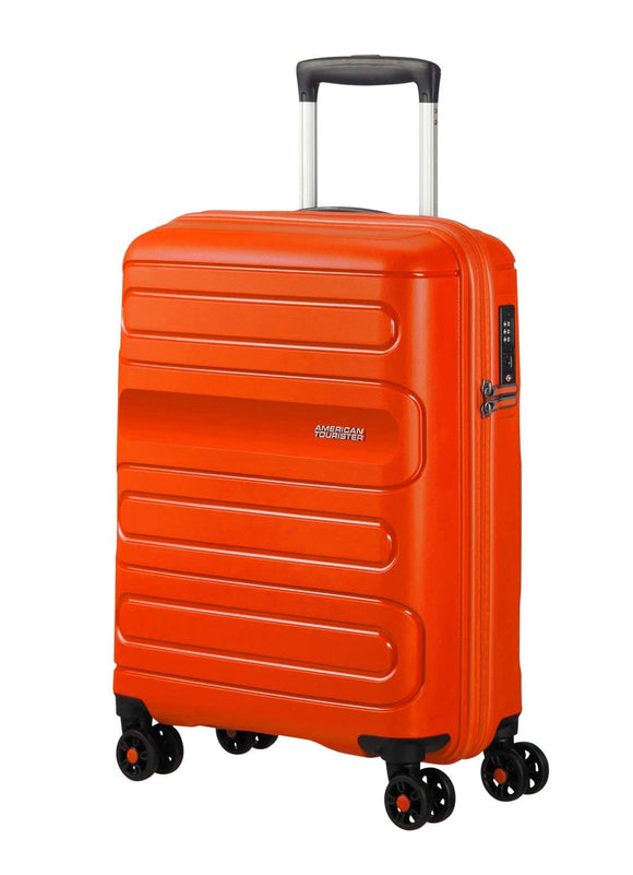 American Tourister Sunside 55cm Expandable Spinner Flame Orange