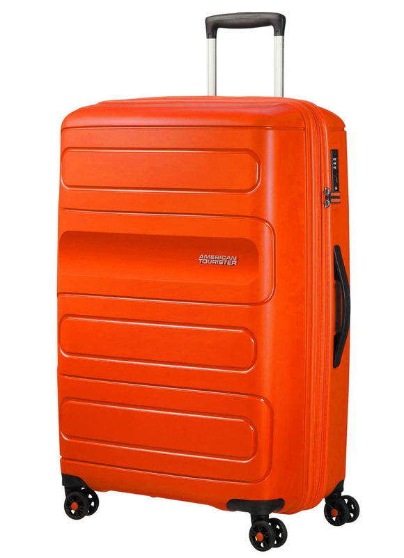 American Tourister Sunside 77cm Expandable Spinner Flame Orange
