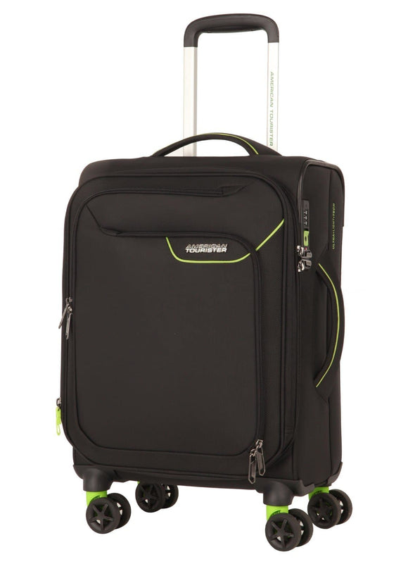 AMERICAN TOURISTER APPLITE 4SECURITY 55CM SPINNER BLACK/GREEN