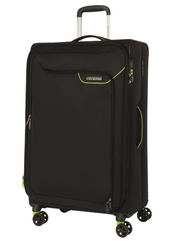 AMERICAN TOURISTER APPLITE 4SECURITY 82CM SPINNER BLACK/GREEN