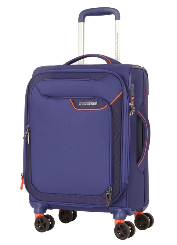 AMERICAN TOURISTER APPLITE 4SECURITY 55CM SPINNER BODEGA BLUE