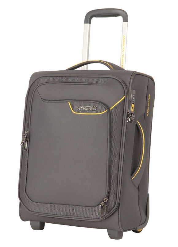 AMERICAN TOURISTER APPLITE 4SECURITY 50CM UPRIGHT LIGHTNING GREY