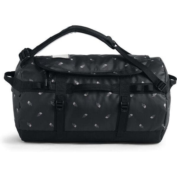 THE NORTH FACE BASE CAMP DUFFLE S BLACK TOSSED LOGO PRINT
