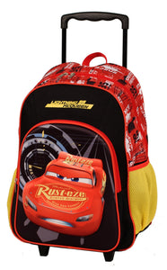 DISNEY CARS LIGHTNING MCQUEEN TROLLEY BACKPACK