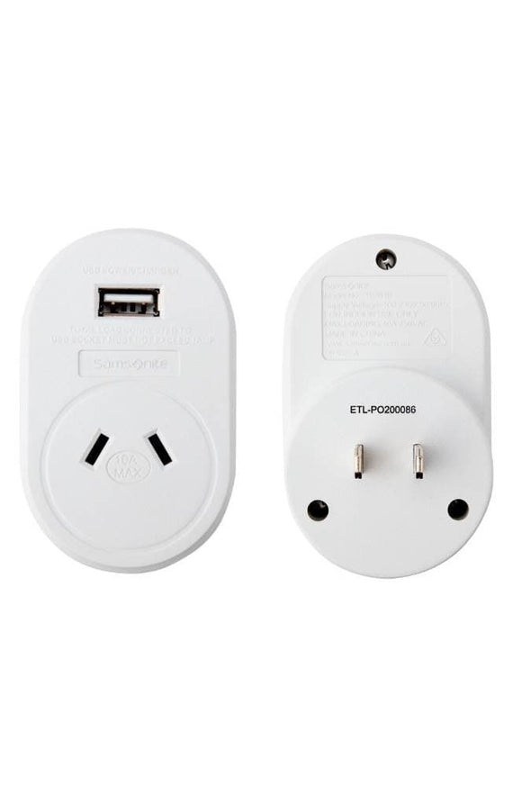SAMSONITE ELECTRONIC ADAPTOR USB SOUTH AMERICA AND JAPAN