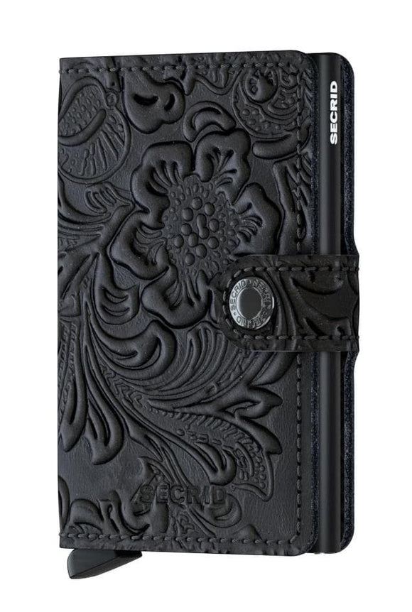 SECRID MINIWALLET BLACK ORNAMENT