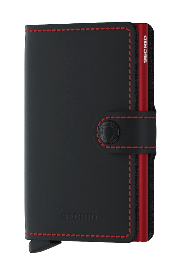 SECRID MINIWALLET MATTE BLACK & RED