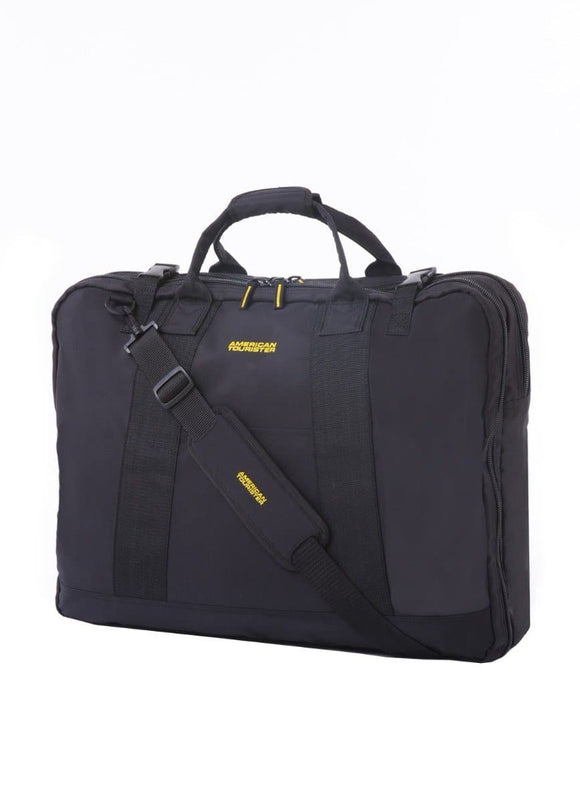 AMERICAN TOURISTER SMART GARMENT BAG BLACK YELLOW