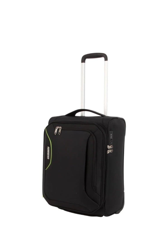American Tourister Applite 3S 50Cm Upright Black Green Travelgoods Trolley Cases Soft