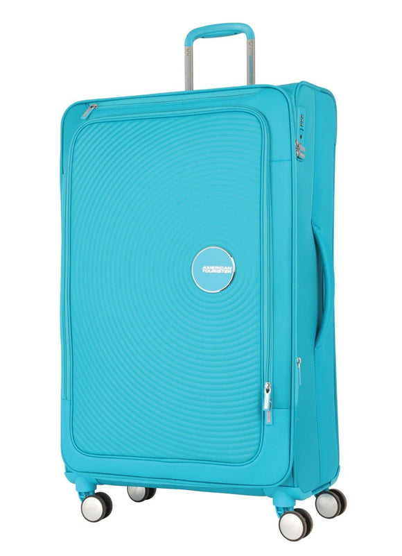 AMERICAN TOURISTER CURIO SOFT SIDE 80CM SPINNER TURQUOISE