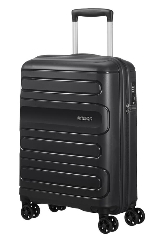 American Tourister Sunside 55cm Expandable Spinner Black