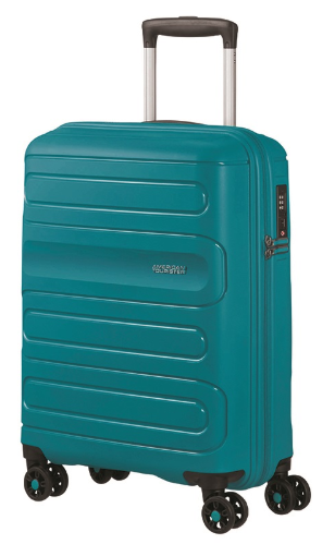 American Tourister Sunside 55cm Expandable Spinner Teal