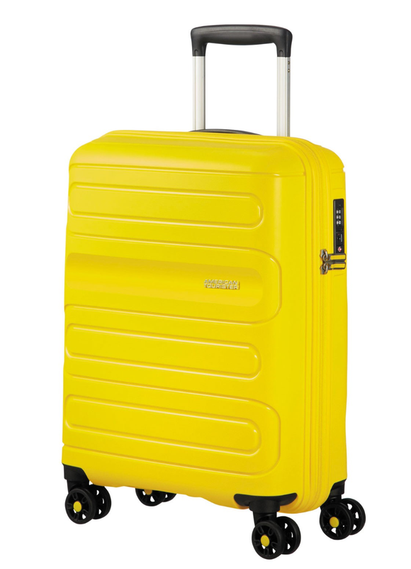 American Tourister Sunside 55cm Expandable Spinner Sunshine Yellow