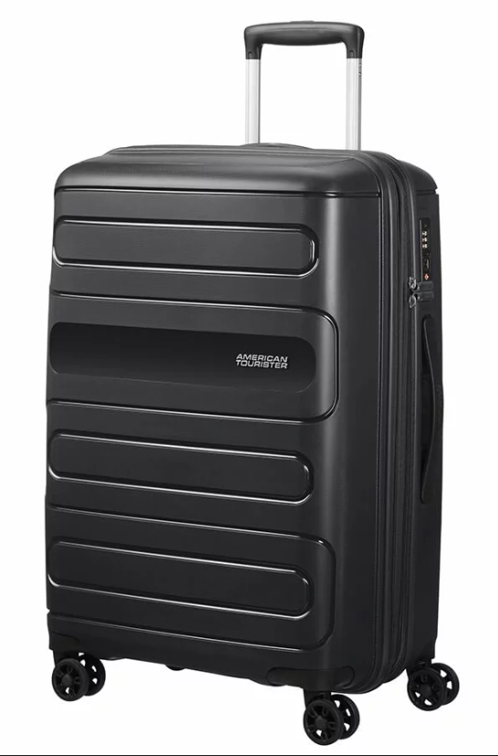 American Tourister Sunside 68cm Expandable Spinner Black
