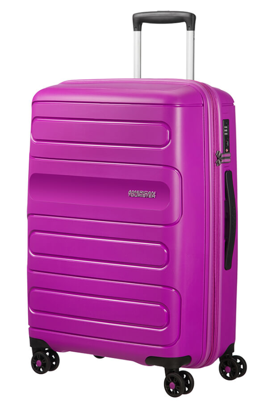 American Tourister Sunside 68cm Expandable Spinner Ultraviolet