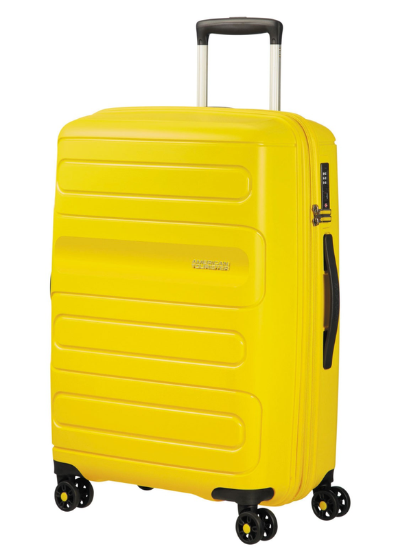 American Tourister Sunside 68cm Expandable Spinner Sunshine Yellow