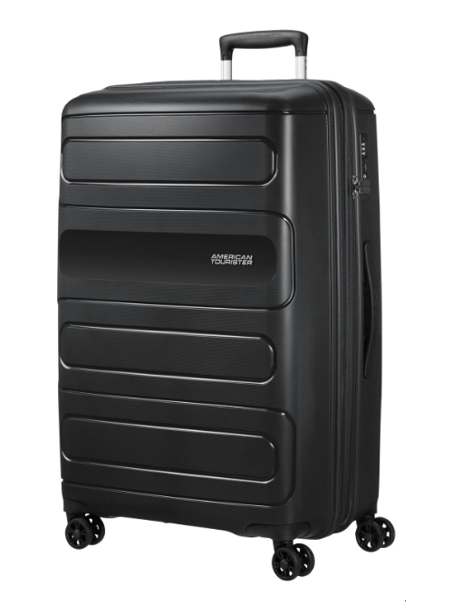 American Tourister Sunside 77cm Expandable Spinner Black