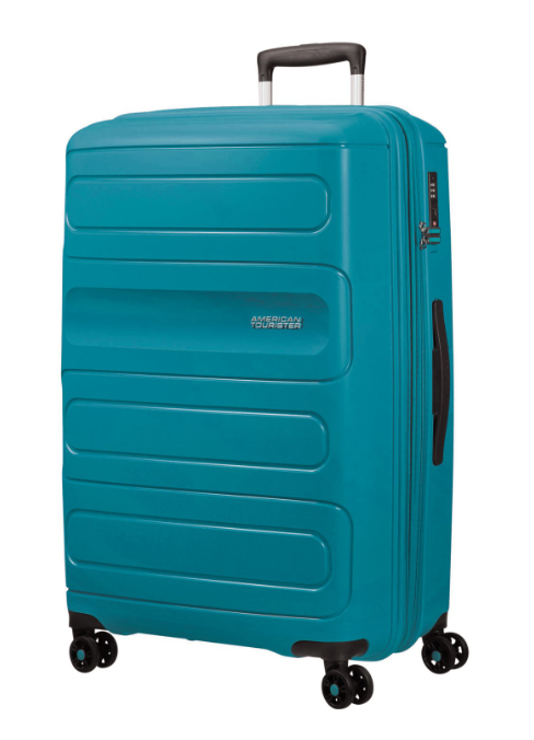 American Tourister Sunside 77cm Expandable Spinner Teal