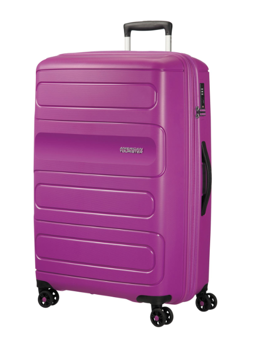 American Tourister Sunside 77cm Expandable Spinner Ultraviolet