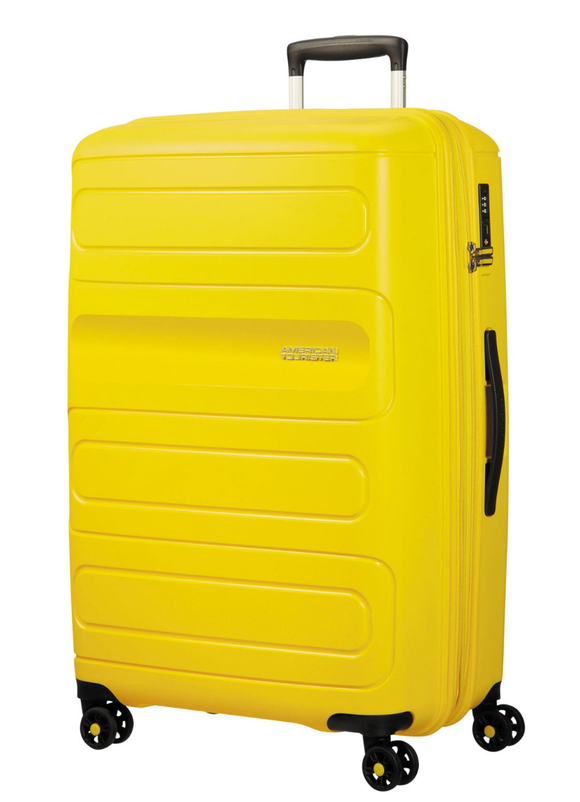 American Tourister Sunside 77cm Expandable Spinner Sunshine Yellow