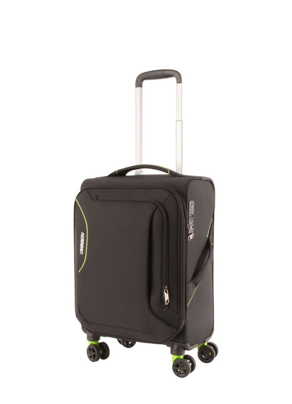 AMERICAN TOURISTER APPLITE 3S 55CM SPINNER BLACK GREEN