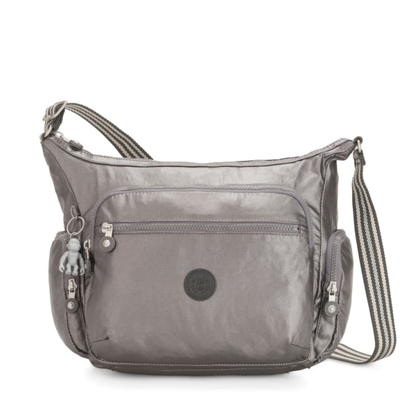 KIPLING BASIC PLUS GABBIE CROSSBODY CARBON METALLIC
