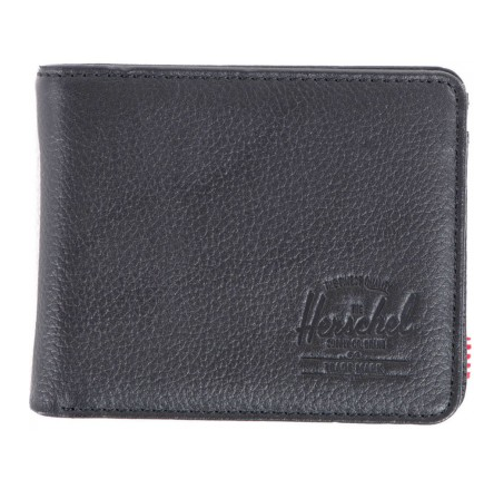 Herschel Hank Coin Wallet Black Leather