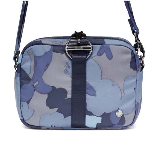PACSAFE CITYSAFE CX SQUARE CROSSBODY BLUE FLORAL