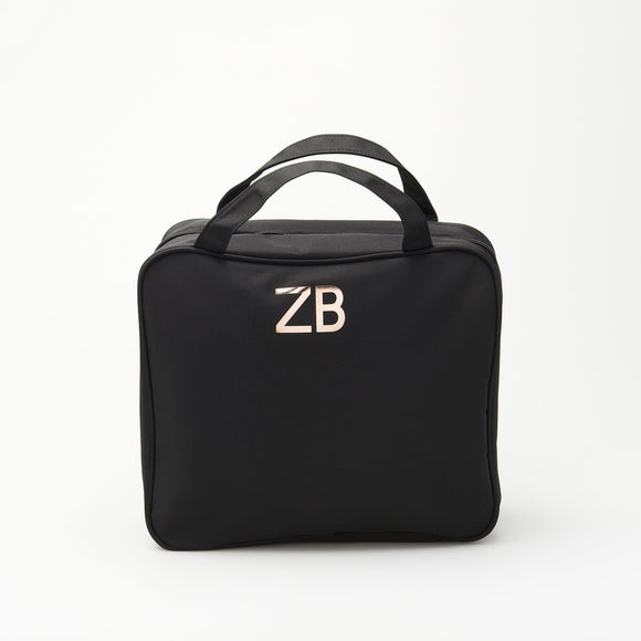 CUSTOMISE HQ ZIP COSMETIC BAG SQUARE LARGE BLACK
