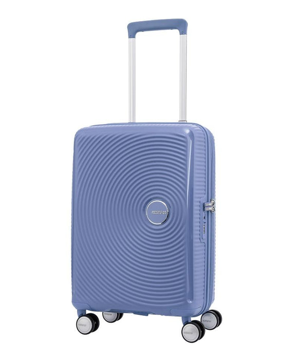 AMERICAN TOURISTER CURIO 55CM SPINNER DENIM BLUE