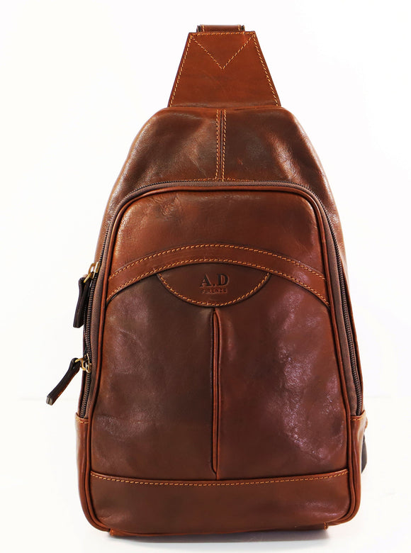 ADRIANO SLING BACKPACK DARK TAN