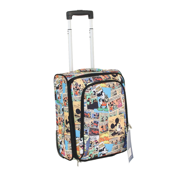 DISNEY COMIC STRIP SOFT SIDE SMALL 18 INCH UPRIGHT CASE