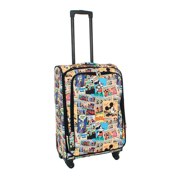 DISNEY COMIC STRIP SOFT SIDE MEDIUM 25 INCH SPINNER CASE
