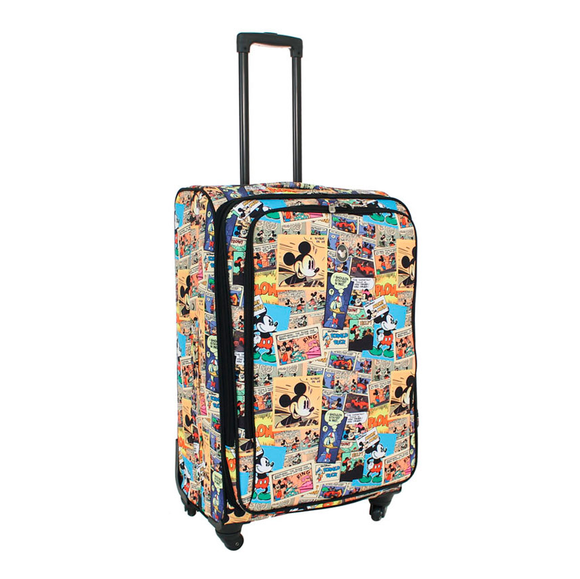 DISNEY COMIC STRIP SOFT SIDE LARGE 28 INCH SPINNER CASE