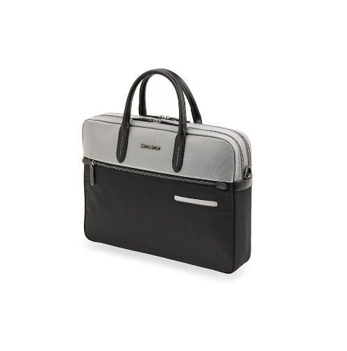 Samsonite Divinal Medium Laptop Briefcase Silver/Black
