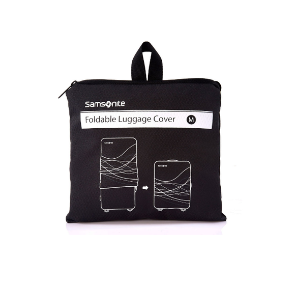 Samsonite Travel Link Accessories Foldable Luggage Cover M Black