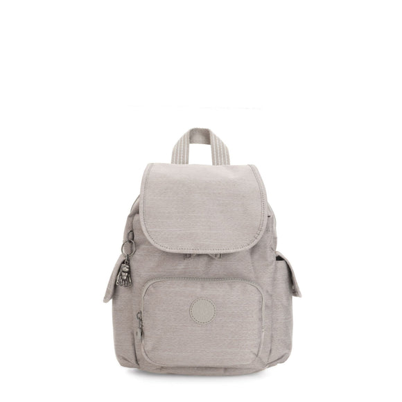 KIPLING PEPPERY CITY PACK BACK PACK GREY BEIGE PEP
