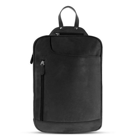 GABEE EMMA LEATHER BACKPACK BLACK