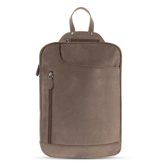 GABEE EMMA LEATHER BACKPACK TAUPE