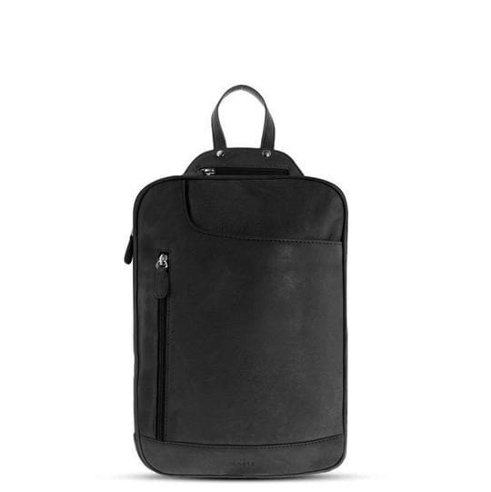 GABEE EMMA MINI LEATHER BACKPACK BLACK