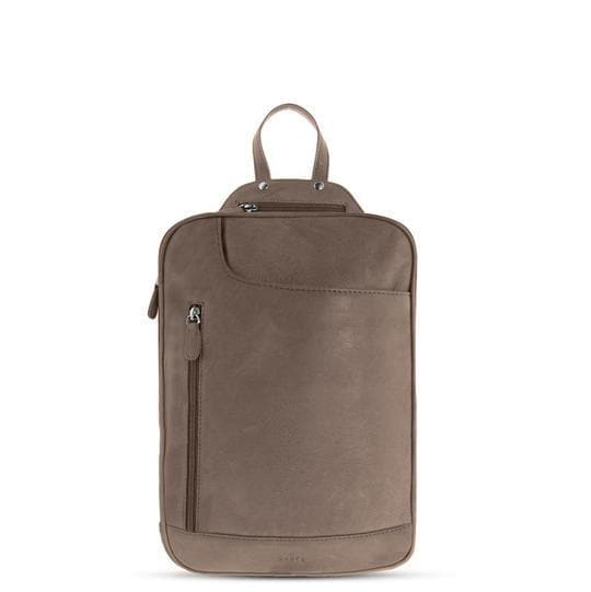 GABEE EMMA MINI LEATHER BACKPACK TAUPE
